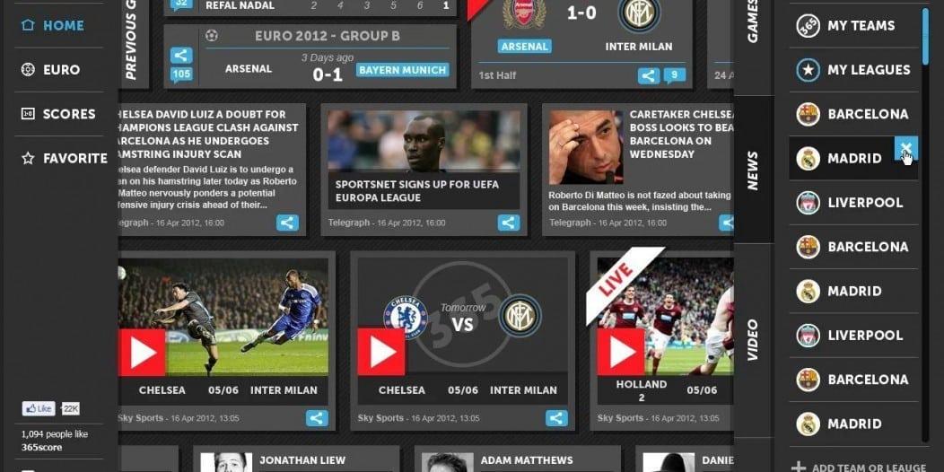 365LiveScore-google-chrome-app-home-page