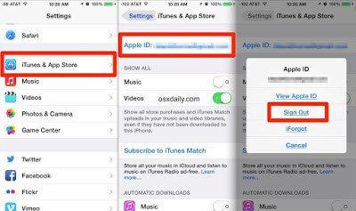 تسجيل الخروج من حساب apple ID السابق