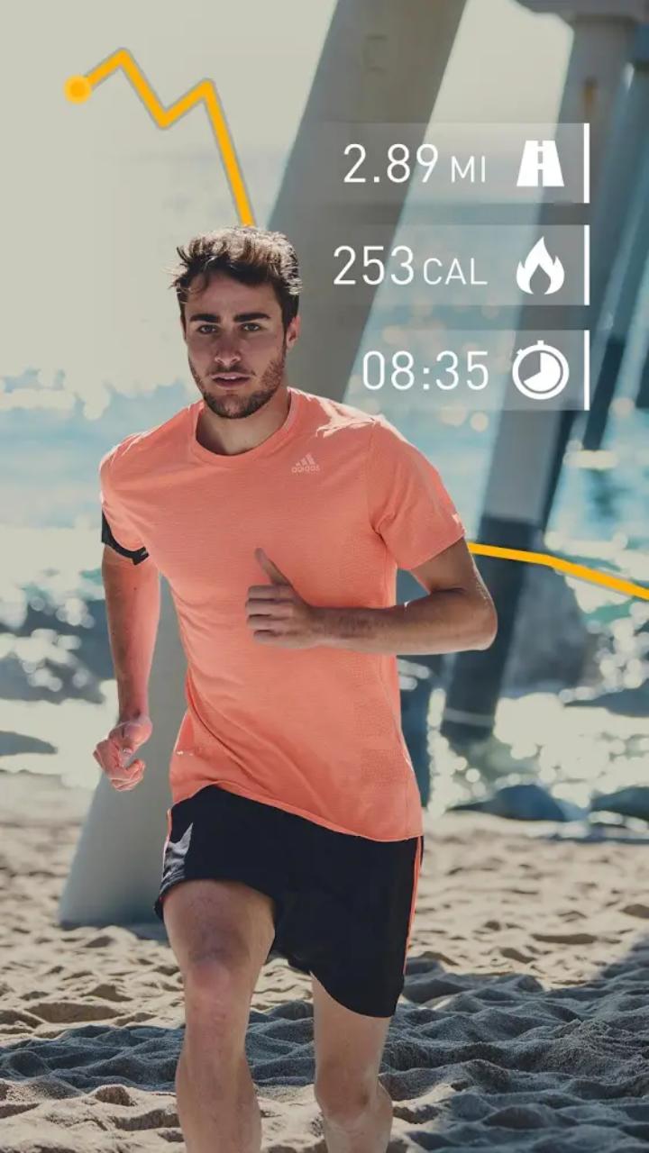ممارسة رياضة الجري باستخدام تطبيق runtastic