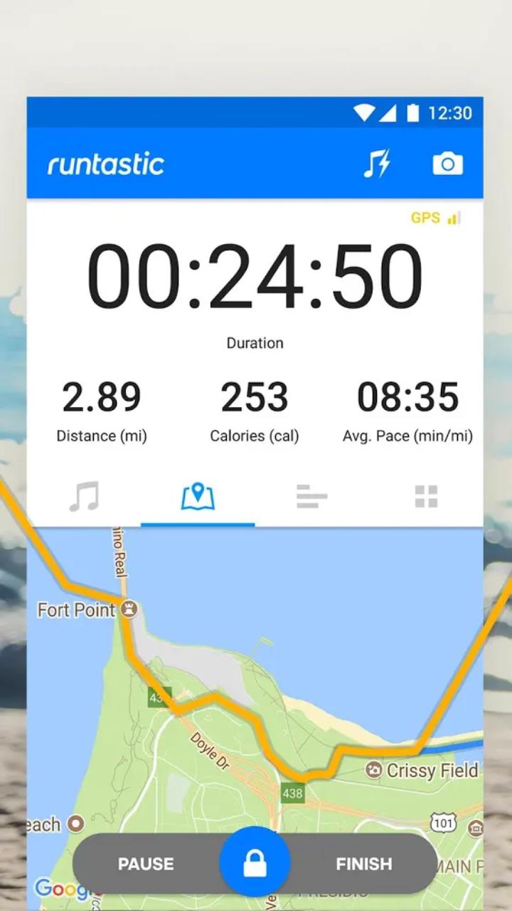 استخدام تطبيق runtastic fitness