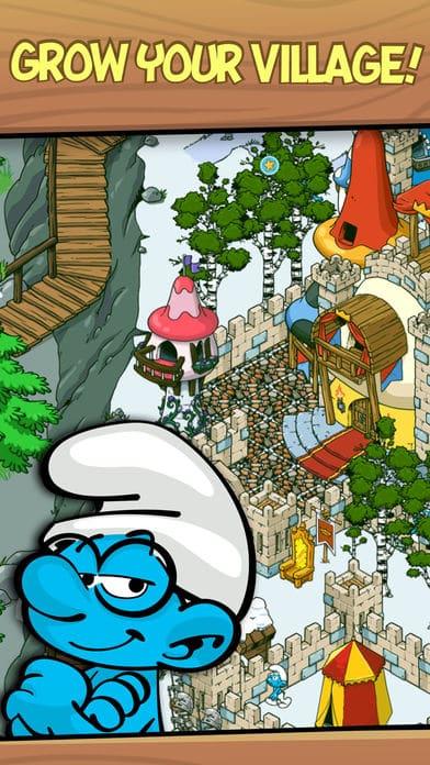 لعبة بناء قرية السنافر _ لعبة مزرعة السنافر للجوال