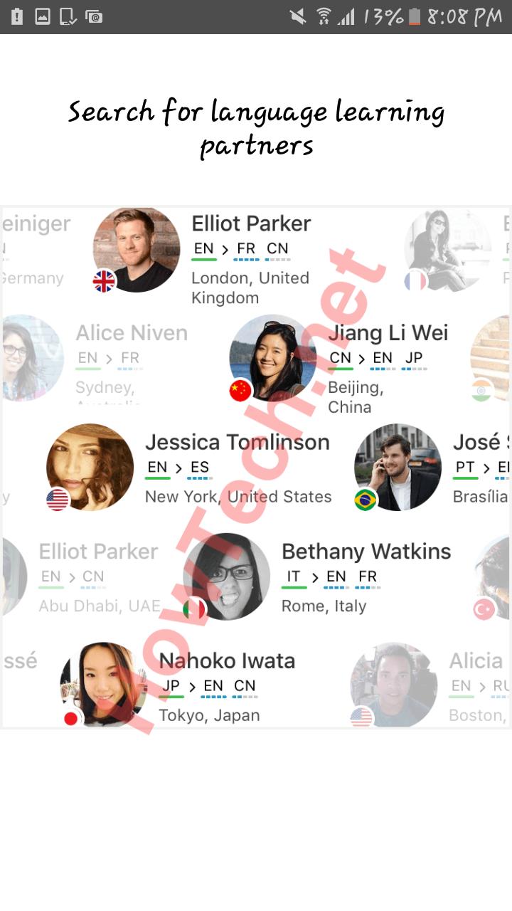 افضل وسيلة لاتقان اللغة هي ممارستها و التحدث مع اهلها من خلال تحميل تطبيق Hello Talk