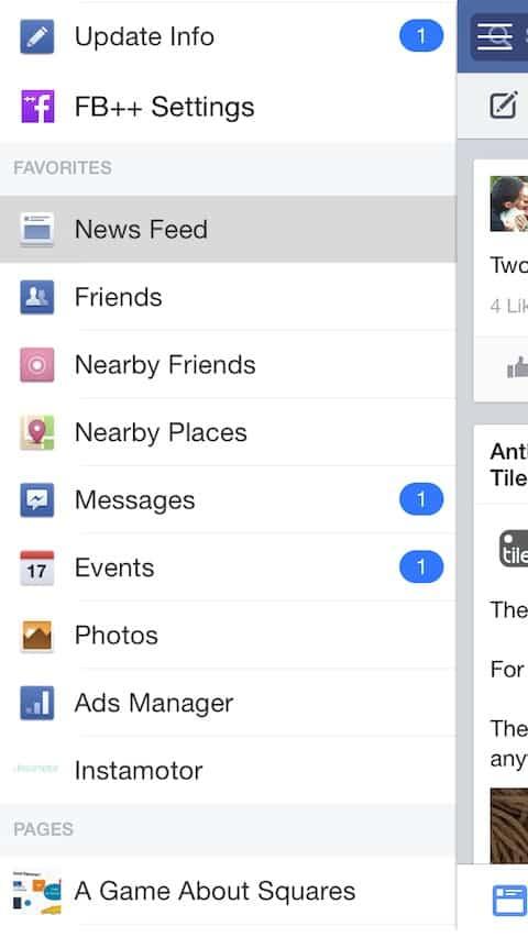 facebook ++ بديل فيس بوك الرسمي
