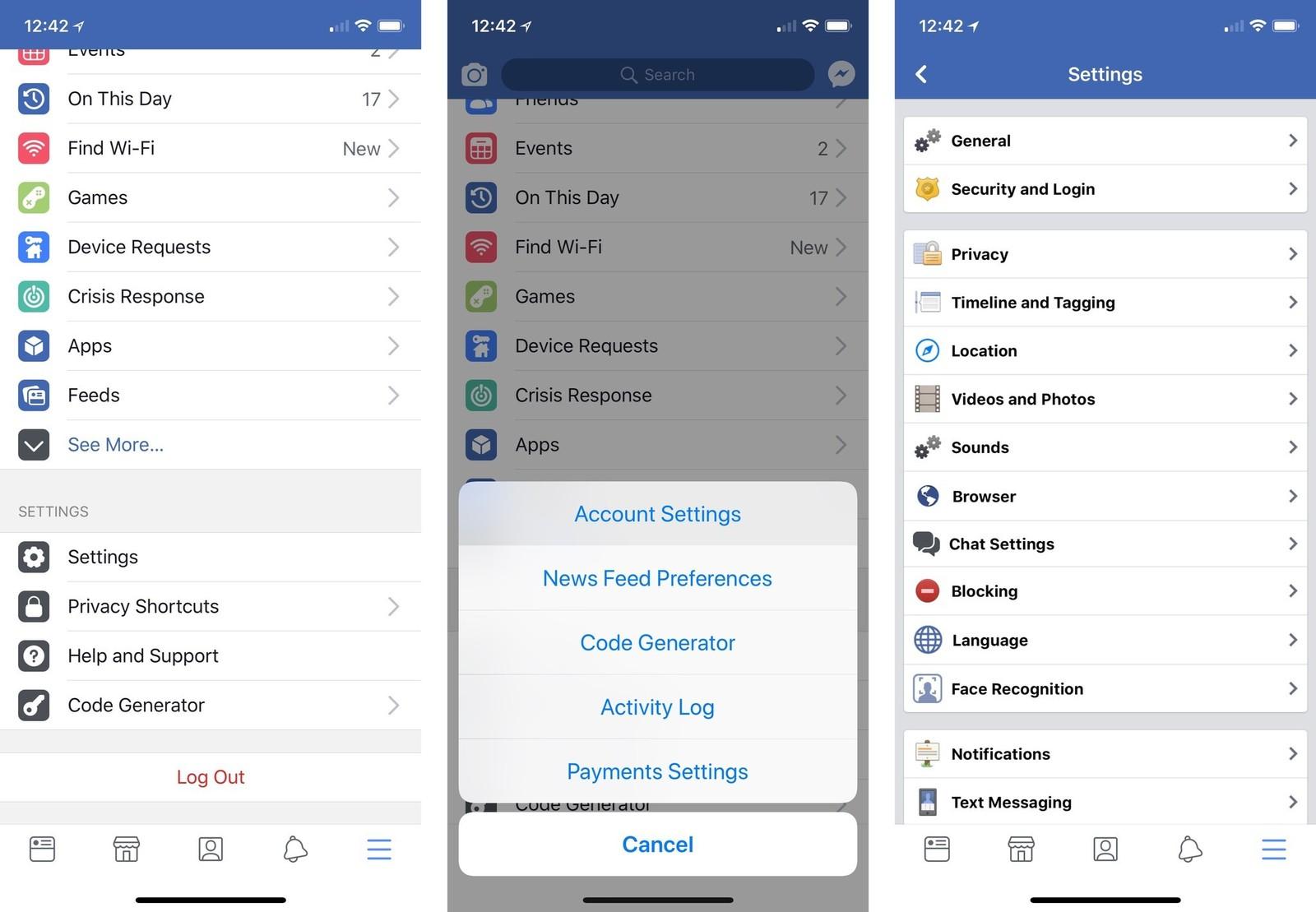 إزالة التطبيقات من حساب فيسبوك للأيفون