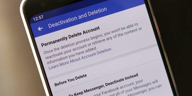 Facebook , حذف حساب فيسبوك
