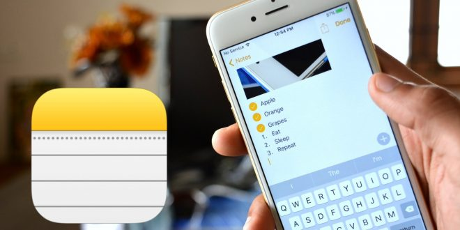 تطبيق Apple Note